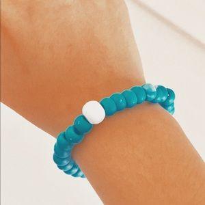 royal blue bracelet (with charm)